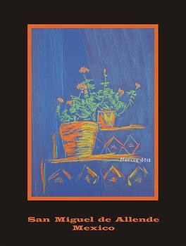 Poster - Blue Geranium by Marcia Meade