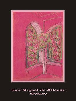 Poster - Light Pink Patio by Marcia Meade