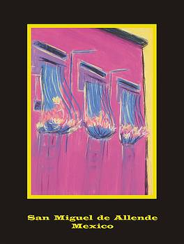 Poster - Pink Balconies by Marcia Meade