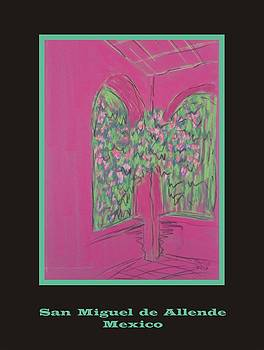 Poster -  Pink Patio by Marcia Meade