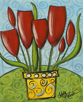 Potted Tulips by Molly Roberts