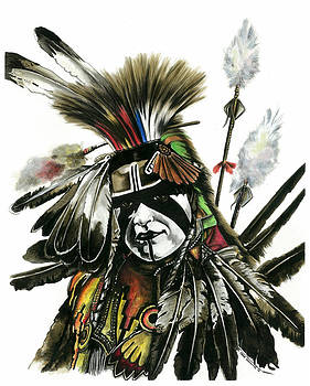 Pow Wow Warrior by Marie Downing