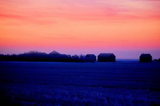 Prairie Farm Sunrise by Don Mann