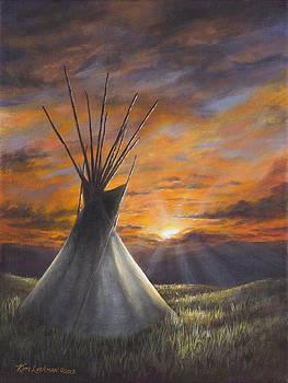 Prairie Sunset by Kim Lockman