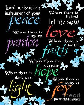 Prayer of St Francis - Butterflies by Ginny Gaura