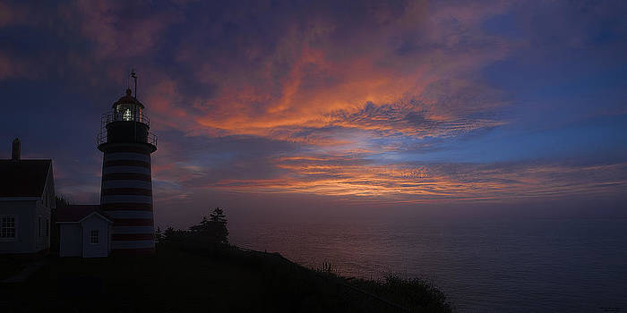 Pre Dawn Lighthouse Sentinal by Marty Saccone