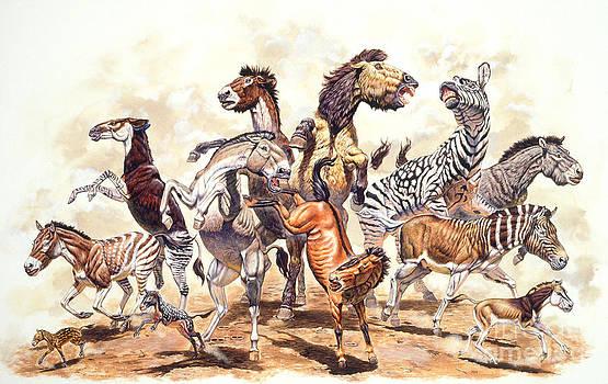 Mark Hallett Paleoart - Prehistoric Horses