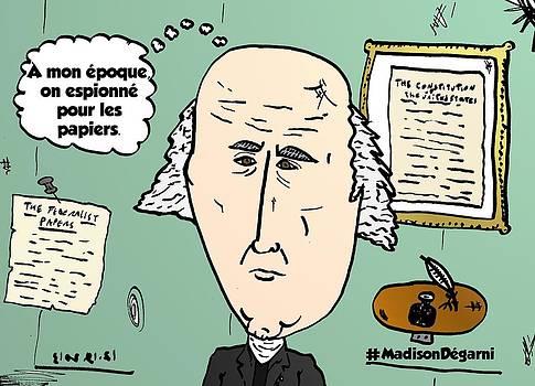 President James Madison chevelu comique by OptionsClick BlogArt