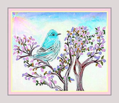 Pretty Blue Bird by Cathy Turner