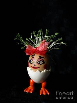 Pretty Lady Easter Eggmen Series  by Ausra Huntington nee Paulauskaite