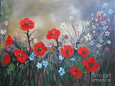 Pretty Poppy Garden by Rhonda Lee