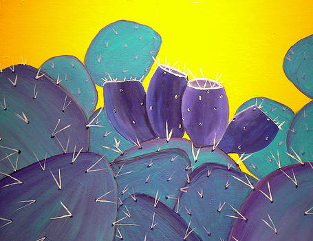 Prickly Pear with Fruit by Karyn Robinson
