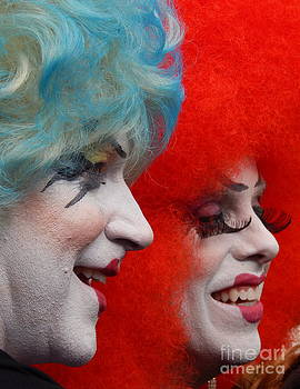Profile Smiles And Lashes At The Southern Decadence Parade In New Orleans Louisiana by Michael Hoard