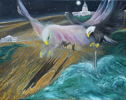 Anne Cameron Cutri - Prophetic MS 36 Two Eagles Camel through Eye of Needle Parable