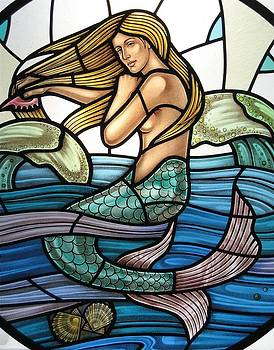 Protection Island Mermaid by Gilroy Stained Glass