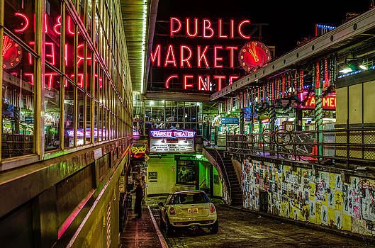 Psychadelic Midnight Colors at Pike Place Market by Brian Xavier