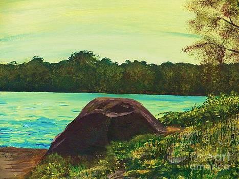 Judy Via-Wolff - Ptg   Adirondack Lake