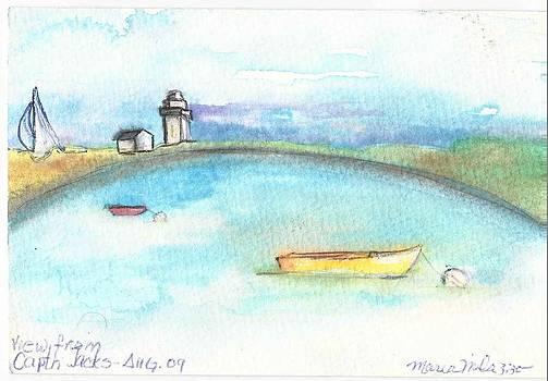 Ptown Horizon Postcard by Maria Milazzo