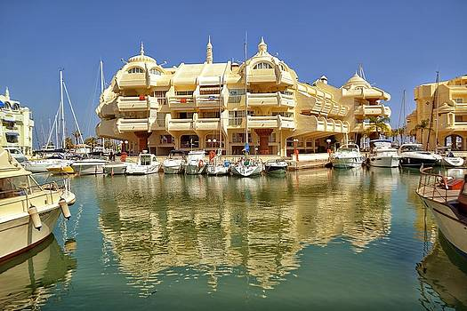 Puerto Marina at Daylight Benalmadena Costa del Sol Spain by Angela Seager