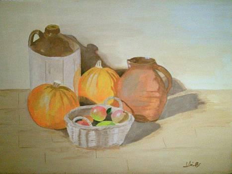 Pumpkins and Apples by John Davis