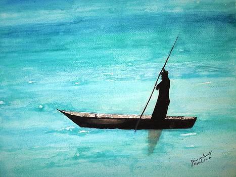 Punt Zanzibar Boat by June Holwell