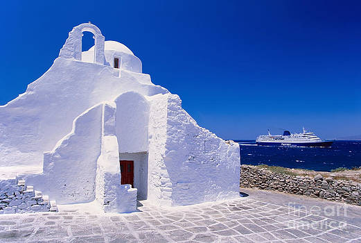 Pure white church by Aiolos Greek Collections