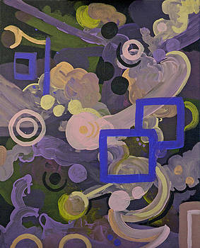 Purple and Blue Abstract 1 by Sara Coolidge