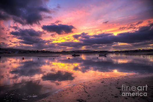 English Landscapes - Purple Bembridge Sunset