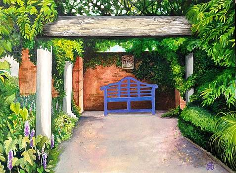 Purple Bench by Carrie Auwaerter