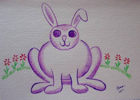 Purple Bunny by Joann Renner