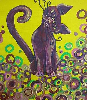 Purple cat by Cherie Sexsmith