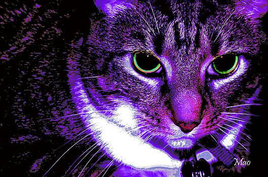 Purple Cat by Maideline  Sanchez