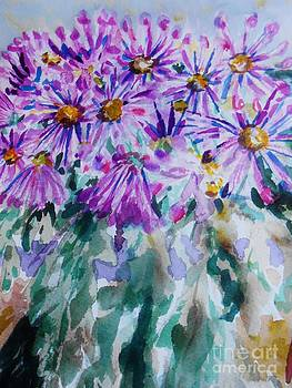 Purple Floral by Emily Michaud