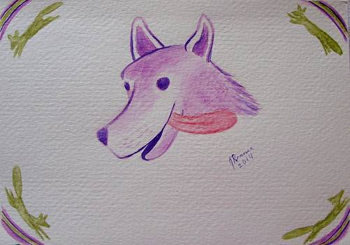 Purple Fox by Joann Renner