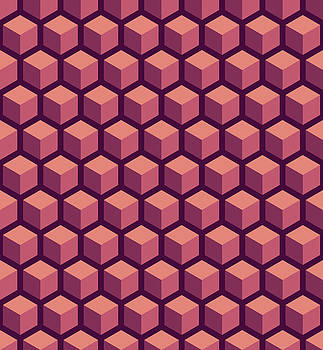 Purple Hexagonal Pattern by Mike Taylor