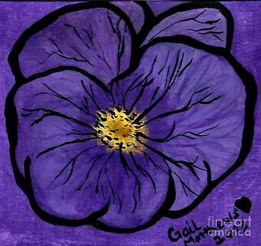 Gail Matthews - Purple Pansy Flower Watercolor