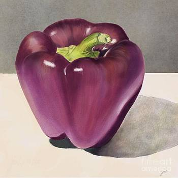 Purple Pepper by Joan A Hamilton