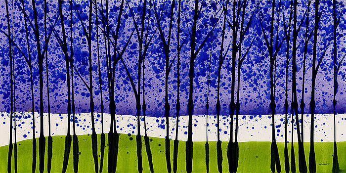 Purple Rain Landscape with Trees 4 by Jerome Lawrence