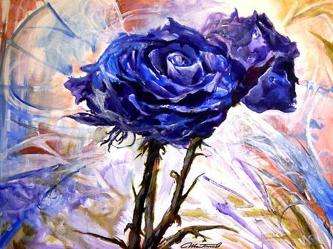Purple roses by Ivan Bogoev