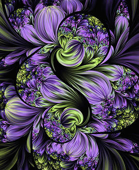 Lea Wiggins - Purple Silk Flowers