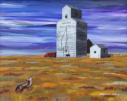 Purple Sky Grain Elevator by Mike Nahorniak