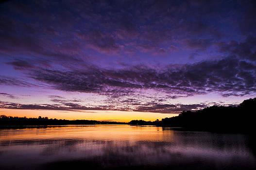 Purple Sunrise on the Sassafras by Eleanor Ivins