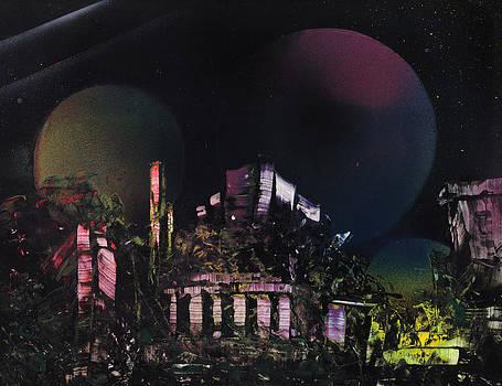Purple Temple by Mike Cicirelli