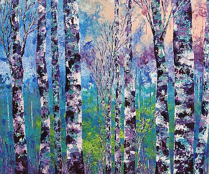 Purple trees by Shilpi Singh