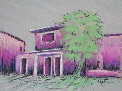 Purple Village by Marcia Meade