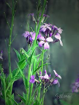 Purple Wildflowers by Zelma Hensel