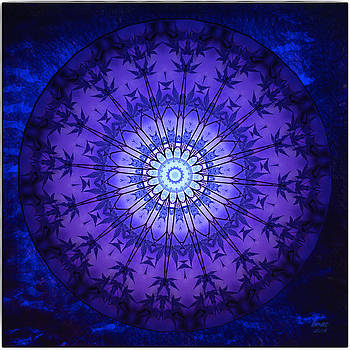 PurpleBlue 2 by Barbara R MacPhail