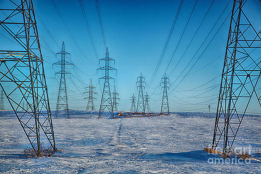 Pylons abstract by Isabel Poulin