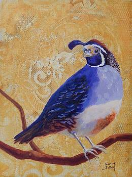 Quail and Lace by Nancy Jolley