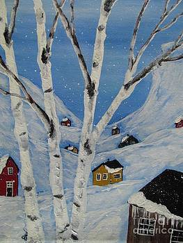 Quebec -Cabins by Beverly Livingstone